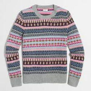 J. Crew Factory Fair Isle Sweater Size S